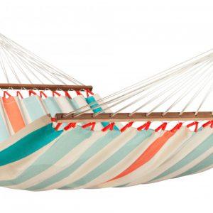 Dvojna zunanja viseča mreža z robnimi palicami COLADA Curacao