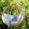 Fotel hamakowy drewniany, Swing Chair Single3