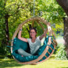 Leseni viseči fotelj Globo Swing