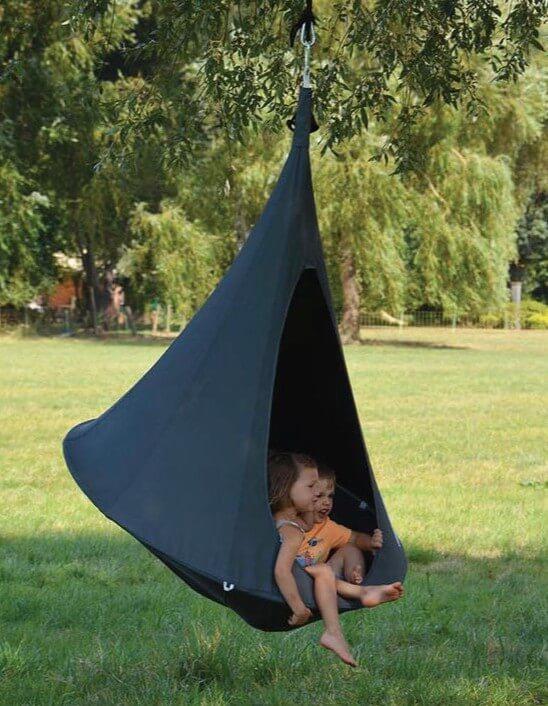 Otroški viseči šotor CACOON BEBO Anthracite