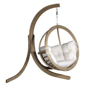 Stojalo za leseni viseči fotelj Globo Swing