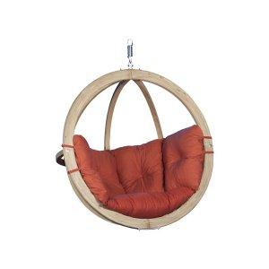 Leseni viseči fotelj Globo Swing Terracota